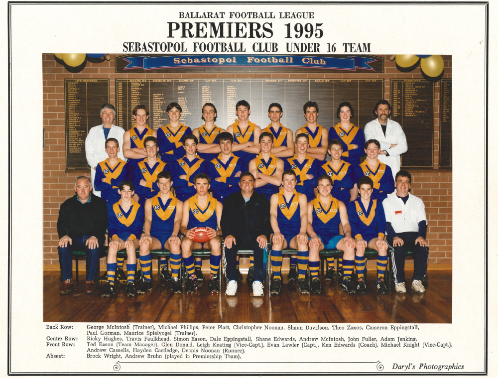 Football Junior 1995 Premiers Under 16