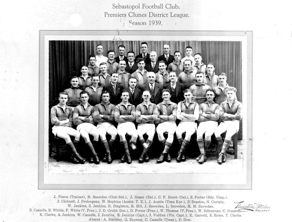 Footy Premiership Senior 1939
